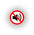the no sound icon vector image vector image