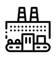 thermal power plant icon outline vector image vector image