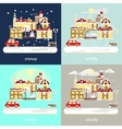 types of different winter weather vector image