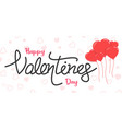 valentine day text banner vector image vector image