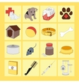 veterinary pet icons vector image vector image