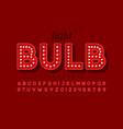 vintage light bulb font design broadway style vector image vector image
