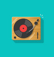 vinyl record player flat vector image
