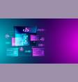 web development application design coding vector image