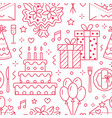 wedding birthday party seamless pattern flat vector image vector image