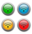 Wifi icon on bright buttons set vector image