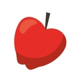 red apple taste fruit nature icon vector image