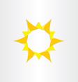 yellow sun sunshine icon background design vector image