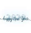 2020 happy new year background with big vector image