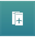 Airline ticket flat icon vector image