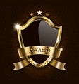 award luxury black shield with golden frame vector image