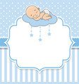 baby boy sleeping on the cloud vector image vector image