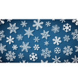 background snowflakes with shadows vector image vector image