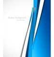 Background with blue lines vector image