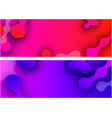 banners with abstract colorful pattern vector image