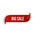 Big Sale ribbon design template Banner sale tag vector image vector image