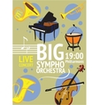 Big Symphonic Orchestra Live Concert Poster vector image vector image