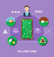 billiard game composition vector image vector image