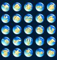 blue and gold vacation icons vector image