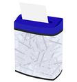 Blue full shredder vector image vector image