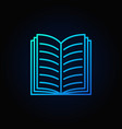 blue open book icon vector image vector image