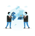Business Businessman holding vector image vector image