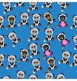 cat in panda costume vector image vector image