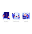 christianity concept metaphors vector image vector image