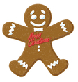 christmas gingerbread man cartoon icon vector image