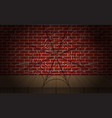 cobweb on brick wall as vector image vector image