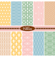 colorful seamless patterns vector image