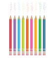colour sketching pencils vector image