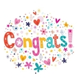 Congrats typography lettering decorative text card vector image vector image