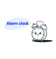 cute retro alarm clock cartoon comic character vector image vector image