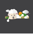 Cute Sheep Portrait vector image