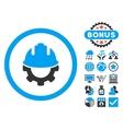 Development Flat Icon with Bonus vector image vector image