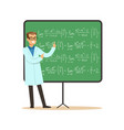 doctor of mathematical sciences stands next to vector image vector image