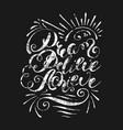 dream believe achieve handwritten lettering vector image vector image