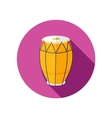 Drum flat icon with long shadow vector image vector image