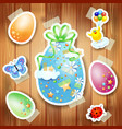 easter background with paper elements vector image vector image