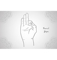 Element yoga mudra hands vector image vector image