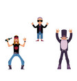 flat rock music people set vector image vector image