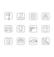 genres of cinema flat line icons set vector image vector image