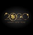 glittery happy new year background with snowflake vector image vector image