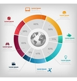 global diagram colorful infographic on gray vector image vector image