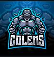 golems esport mascot logo vector image vector image