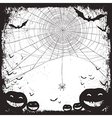 halloween background bw vector image vector image