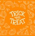 halloween pumpkin frame vector image vector image