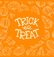 halloween pumpkin frame vector image