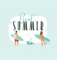 hand drawn abstract cartoon summer time fun vector image vector image